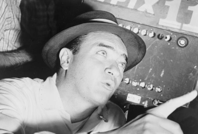 Mel Allen became the voice of the Yankees in 1939, but in '41 the Bombers were off the air.